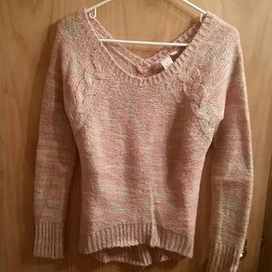 Candies pastel-colored scoop neck sweater